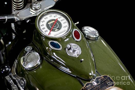 Barbara McMahon - 1942 Harley Davidson Instrument Panel