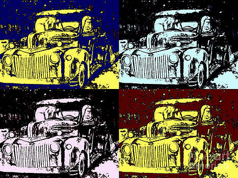 1947 Ford Pickup Pop Art by DJ Laughlin