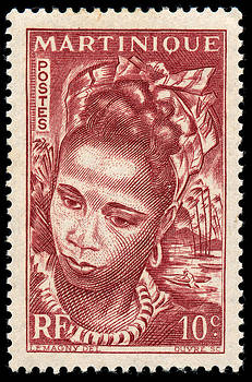1947 Martinique 10 C Postage Stamp by Charles  Dutch