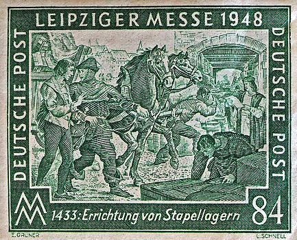 Bill Owen - 1948 Allied Occupation German Stamp