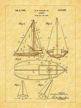 Barry Jones - 1948 Sailboat Patent Art