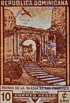 Bill Owen - 1949 San Francisco Ruins Dominican Republic Stamp