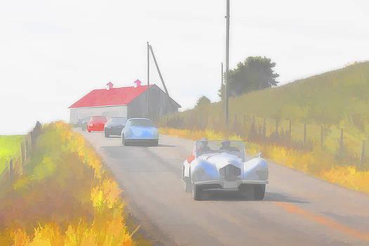 Jack R Perry - 1950 Allard K2 roadster and Porsche 356