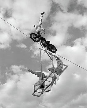 1950s 1960s High-wire Act With Man by Vintage Images