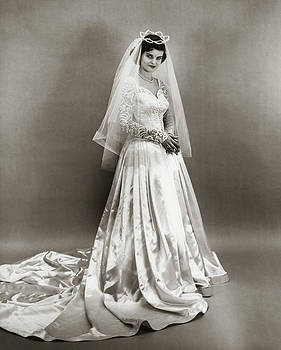 1950s Full Length Portrait Bride by Vintage Images