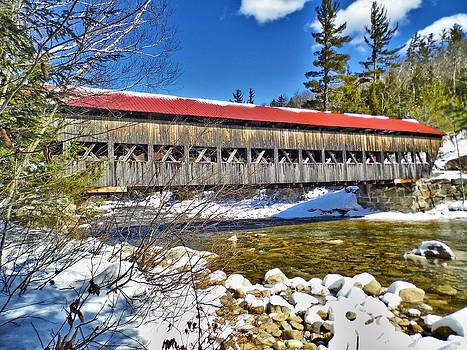 1953 Albany Swift River Covered Bridge by Naturally NH