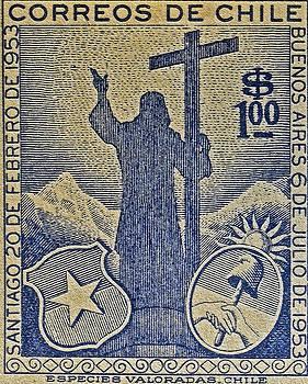Bill Owen - 1953 Chile Stamp