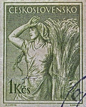 Bill Owen - 1954 Czechoslovakian Farm Woman Stamp
