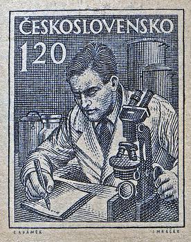 Bill Owen - 1954 Czechoslovakian Scientist Stamp