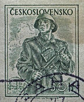 Bill Owen - 1954 Czechoslovakian Soldier Stamp
