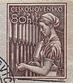 Bill Owen - 1954 Czechoslovakian Textile Worker Stamp