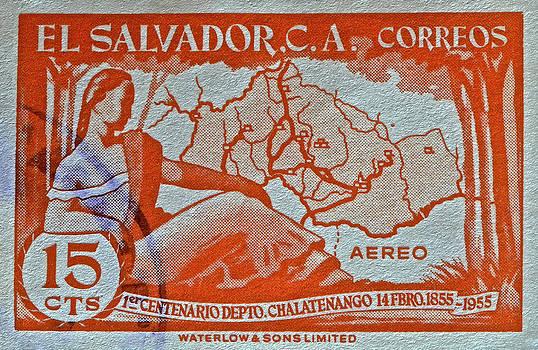 Bill Owen - 1955 El Salvador Stamp