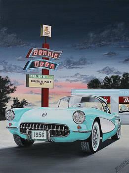 1956 Corvette  by Branden Hochstetler