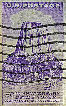 Bill Owen - 1956 Devils Tower National Monument Stamp