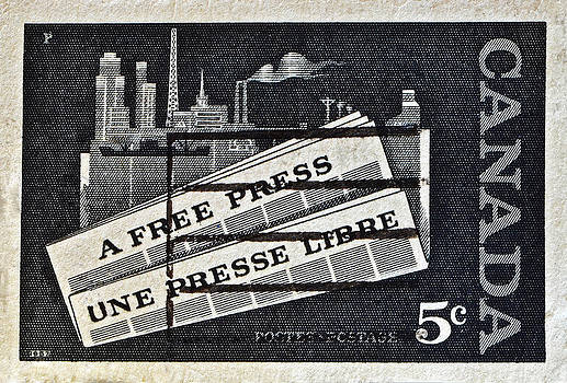 Bill Owen - 1957 Canada Free Press Stamp