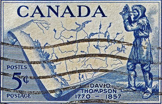 Bill Owen - 1957 David Thompson Canada Stamp