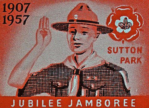Bill Owen - 1957 Jubilee Jamboree England Stamp