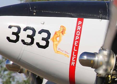 John King - 1957 Twin Beech E185 Nose Art N5867