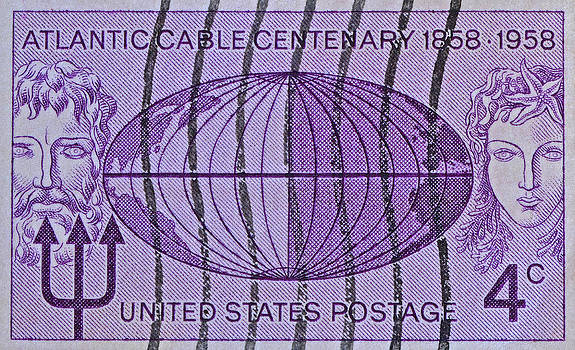 Bill Owen - 1958 Atlantic Cable Stamp
