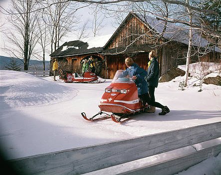 1960s 1970s People In Snowmobiles Snow by Vintage Images