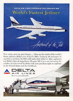 John King - 1960s Delta Convair 880 Ad
