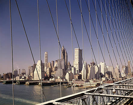 1960s Skyline Downtown Manhattan by Vintage Images
