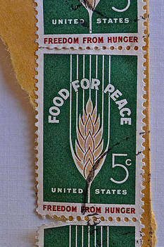 Bill Owen - 1963 Food for Peace Stamp Collage
