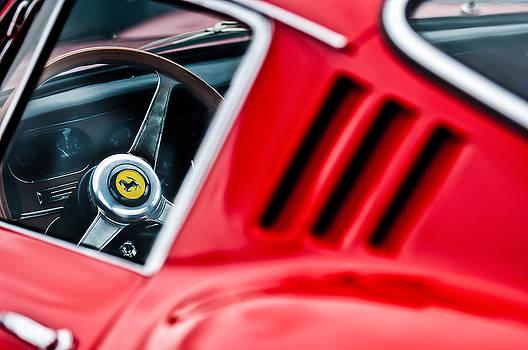 1966 Ferrari 275 Gtb Steering Wheel Emblem -0563c by Jill Reger