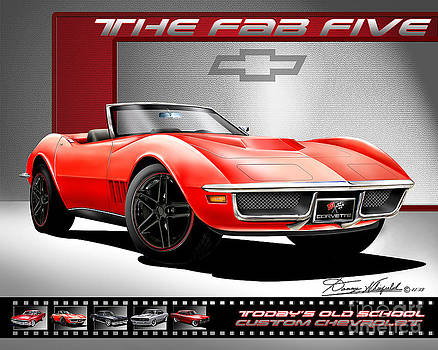 1968 Chevrolet Corvette 427 The Fab Five by Danny Whitfield