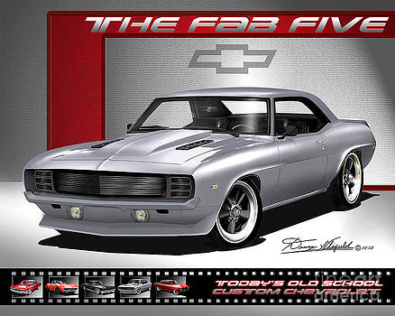 1969 Custom Chevrolet Camaro - The Fab Five by Danny Whitfield