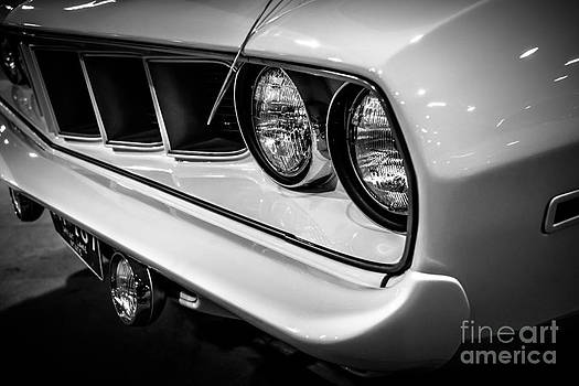 Paul Velgos - 1971 Plymouth Cuda Black and White Picture