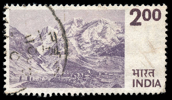1975 Indian Postage Stamp feat. Himalayas by Charles  Dutch