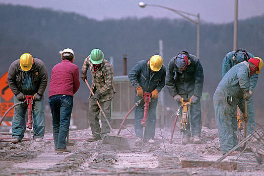 1990s Unidentified Workers Using by Vintage Images