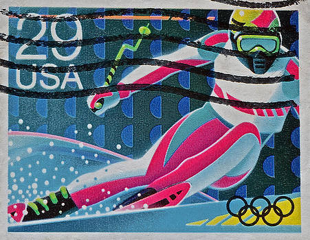 Bill Owen - 1992 Downhill Racer Stamp