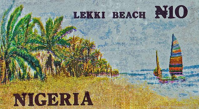 Bill Owen - 1992 Nigerian Lekki Beach Stamp
