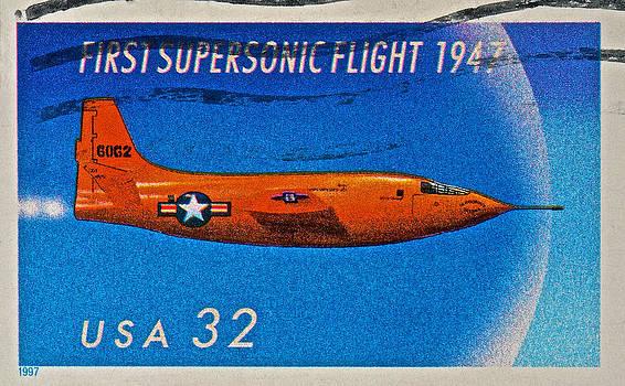 Bill Owen - 1997 First Supersonic Flight Stamp