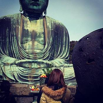 Great Buddha in Kamakura Japan by Yoshikazu Yamaguchi