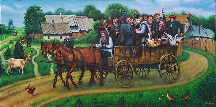 Jewish Cart.  by Eduard Gurevich