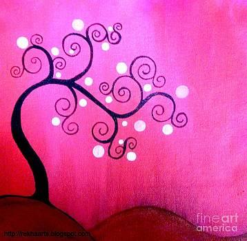 Abstract Tree Paintings by Rekha Artz