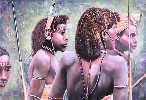 African Friends by JAXINE Cummins