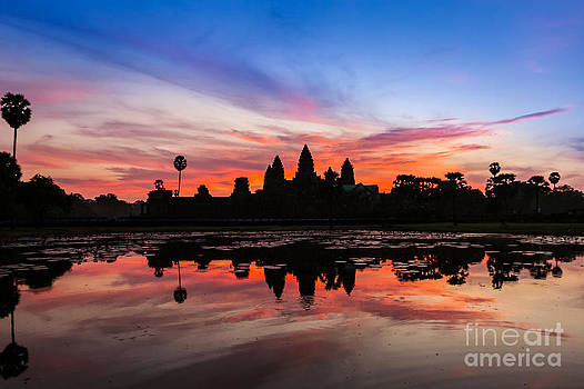 Angkor Wat Sunrise by Fototrav Print