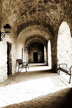 Arches and Light in Stone Hall by Lincoln Rogers