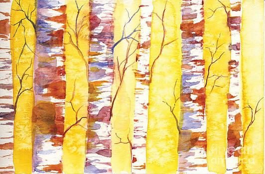 Autumn Birches by Sara Alexander Munoz
