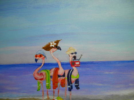 Beach Bunnies by Linda Bright Toth
