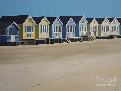 Beach Huts by the Seaside by Linda Monk