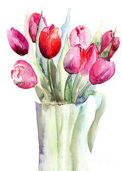 Beautiful Tulips flowers by Regina Jershova