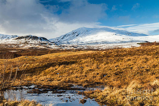 Ben Vrackie in winter Scotland by Gabor Pozsgai