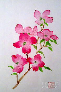 Blooming dogwood by Margaret Welsh Willowsilk