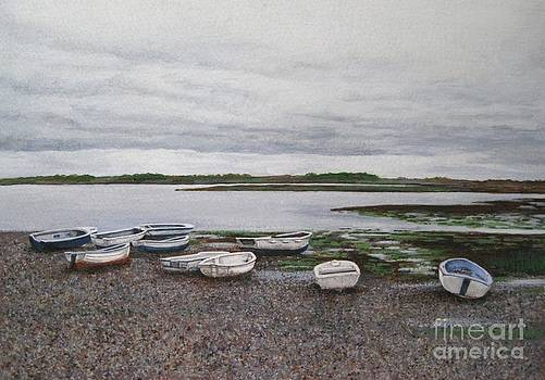 Boats on the Estuary by Shirley Miller