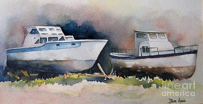 Boats x2 by Diane Agius